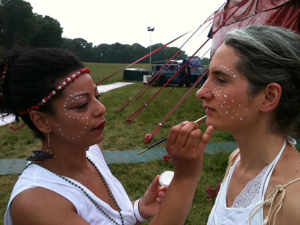 Kate Watkiss and Loulou Edwards at Kaya Festival North Wales